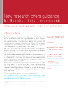 Cover of AF Epidemic White paper